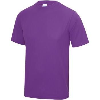 Textiel Heren T-shirts korte mouwen Awdis Performance Magenta Magie