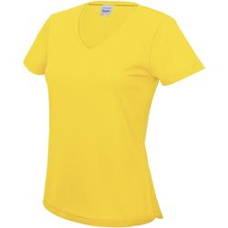 Textiel Dames T-shirts korte mouwen Awdis Girlie Zonnegeel