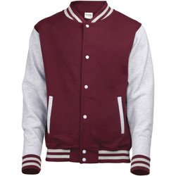 Textiel Kinderen Wind jackets Awdis Varsity Bourgogne/Heather Grey