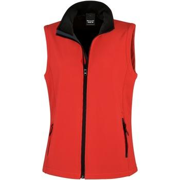 Textiel Dames Vesten / Cardigans Result Printable Rood / Zwart