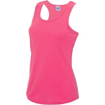 Textiel Dames Mouwloze tops Awdis Girlie Elektrisch Roze