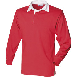 Textiel Heren Polo's lange mouwen Front Row Rugby Rood/Wit