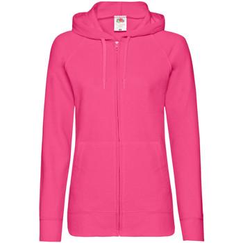 Textiel Dames Sweaters / Sweatshirts Fruit Of The Loom Lightweight Fuchsia