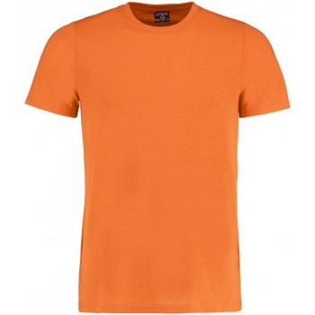 Textiel Heren T-shirts korte mouwen Kustom Kit Fashion Fit Helder oranje mergel