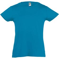 Textiel Meisjes T-shirts korte mouwen Sols Cherry Aqua