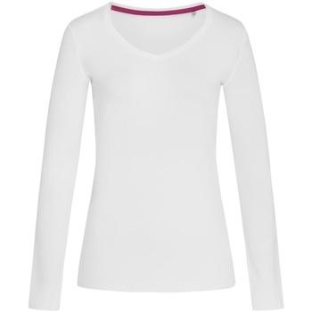 Textiel Dames T-shirts met lange mouwen Stedman Stars  Wit
