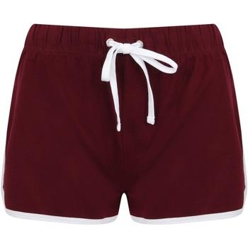Textiel Dames Korte broeken / Bermuda's Skinni Fit Retro Bourgogne/Wit