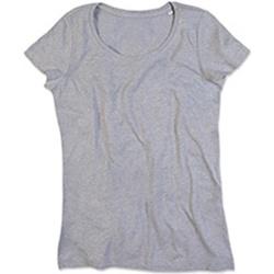 Textiel Dames T-shirts korte mouwen Stedman Stars Lisa Heide Grijs