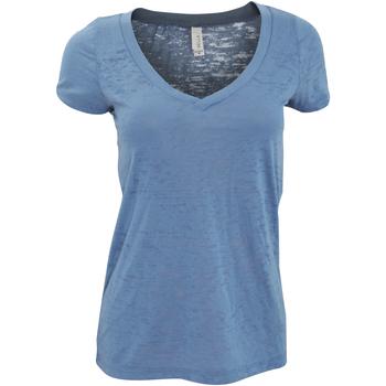 Textiel Dames T-shirts korte mouwen Bella + Canvas Burnout Staalblauw