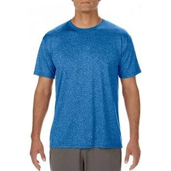 Textiel Heren T-shirts korte mouwen Gildan Performance Heather Sport Royal