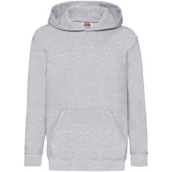 Textiel Kinderen Sweaters / Sweatshirts Fruit Of The Loom Hooded Heater Grijs