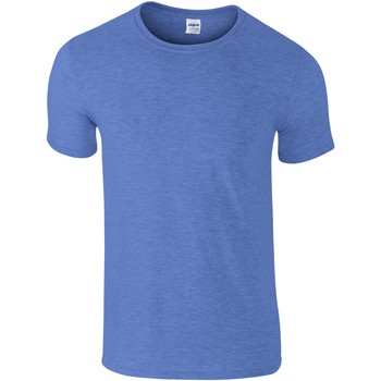Textiel Heren T-shirts korte mouwen Gildan Soft-Style Heide Royal