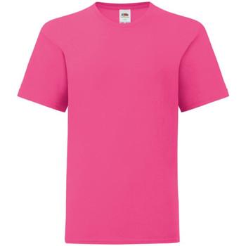 Textiel Kinderen T-shirts korte mouwen Fruit Of The Loom Iconic Fuchsia Roze