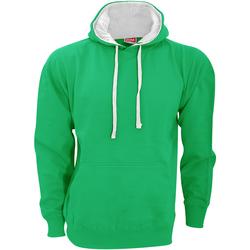 Textiel Heren Sweaters / Sweatshirts Fdm Contrast Kelly Groen/Wit