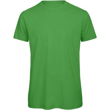 Textiel Heren T-shirts korte mouwen B And C Organic Echt groen