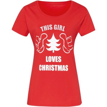 Textiel Dames T-shirts korte mouwen Christmas Shop Christmas Rood