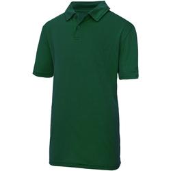 Textiel Kinderen Polo's korte mouwen Awdis JC40J Fles groen