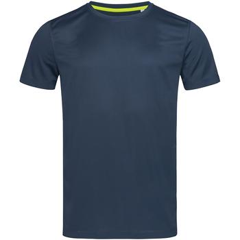 Textiel Heren T-shirts korte mouwen Stedman Mesh Donkerblauw