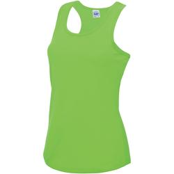 Textiel Dames Mouwloze tops Just Cool Girlie Elektrisch Groen