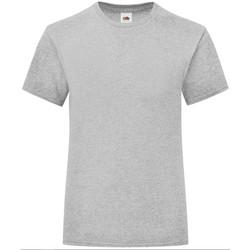 Textiel Meisjes T-shirts korte mouwen Fruit Of The Loom Iconic Heather Grijs