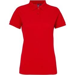 Textiel Dames Polo's korte mouwen Asquith & Fox Performance Kersenrood