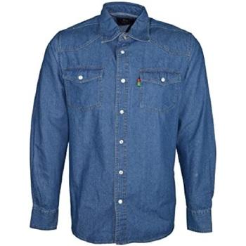Textiel Heren Overhemden lange mouwen Duke Western Stonewash