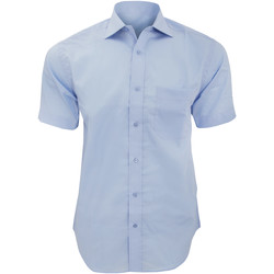 Textiel Heren Overhemden korte mouwen Kustom Kit Premium Lichtblauw