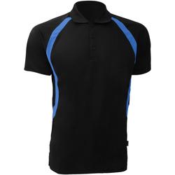 Textiel Heren Polo's korte mouwen Gamegear Riviera Zwart/Elektrisch Blauw