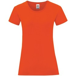 Textiel Dames T-shirts korte mouwen Fruit Of The Loom Iconic Vuur Rood