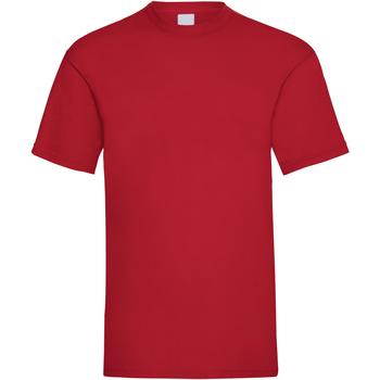 Textiel Heren T-shirts korte mouwen Universal Textiles Casual Donkerrood
