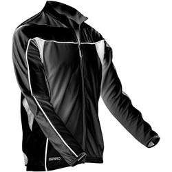 Textiel Heren Trainings jassen Spiro Performance Zwart/Wit