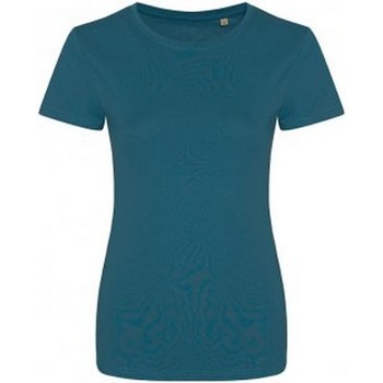 Textiel Dames T-shirts korte mouwen Ecologie Organic Inkt Blauw