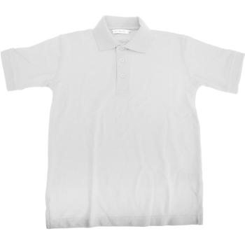 Textiel Jongens Polo's korte mouwen Kustom Kit Superwash Wit
