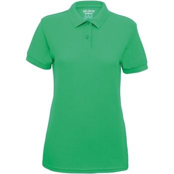 Textiel Dames Polo's korte mouwen Gildan Pique Irish Groen
