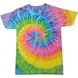 Textiel Dames T-shirts korte mouwen Colortone Rainbow Saturnus