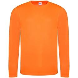 Textiel Heren T-shirts met lange mouwen Just Cool Performance Elektrisch Oranje
