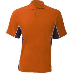 Textiel Heren Polo's korte mouwen Gamegear Pique Oranje/Grafiek/Wit