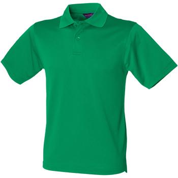 Textiel Heren Polo's korte mouwen Henbury Pique Kelly Groen