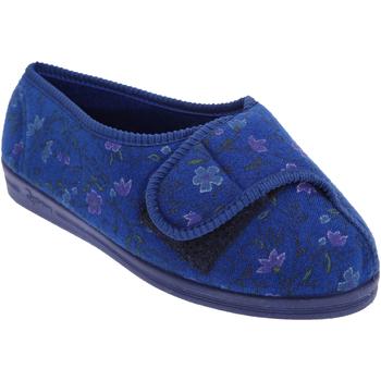 Schoenen Dames Sloffen Comfylux Floral Marineblauw