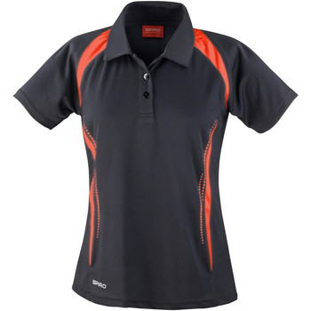 Textiel Dames Polo's korte mouwen Spiro Performance Zwart/Rood