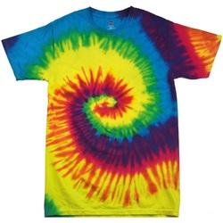 Textiel Kinderen T-shirts korte mouwen Colortone Rainbow Regenboog