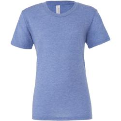 Textiel Heren T-shirts korte mouwen Bella + Canvas Triblend Blauwe Triblend
