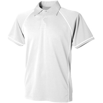 Textiel Heren Polo's korte mouwen Finden & Hales Piped Wit/Wit