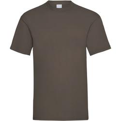 Textiel Heren T-shirts korte mouwen Universal Textiles Casual Donkerbruin