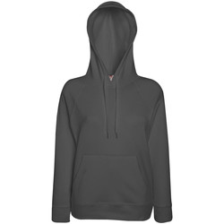 Textiel Dames Sweaters / Sweatshirts Fruit Of The Loom Hooded Licht  Graphite