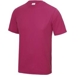 Textiel Heren T-shirts korte mouwen Awdis Performance Heet Roze