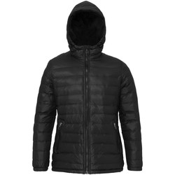 Textiel Dames Dons gevoerde jassen 2786 Hooded Zwart/Zwart