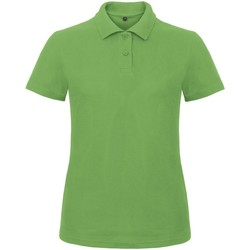 Textiel Dames Polo's korte mouwen B And C ID.001 Echt groen