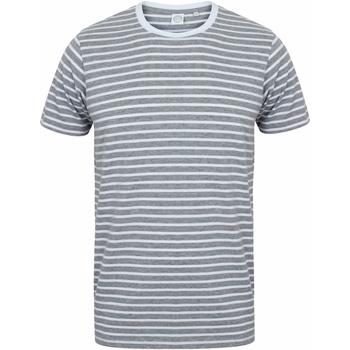 Textiel T-shirts korte mouwen Skinni Fit Striped Heide Grijs/Wit
