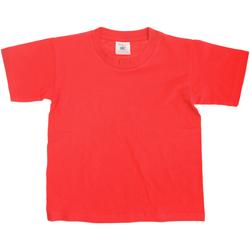 Textiel Kinderen T-shirts korte mouwen B And C Exact 150 Rood